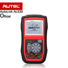 Autel AutoLink AL539 OBDII CAN Scan Tool AVO meter Check Engine Light (MIL), Retrieves generic, 10 modes OBD II test diagnosis(China)