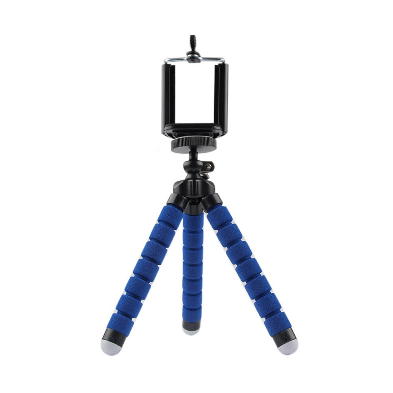 Digital Camera Flexible Octopus Leg Tripod Bracket Stand For iPhone Cell Phone Stand Tripod Mount + Phone Holder blue(China (Mainland))