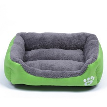 Pet Dog Cat Bed Puppy Cushion House Soft Cotton Fleece Warm Kennel Small Nest Dog Chihuahua Mat Bed Cage Blanket Plush Cozy(China)