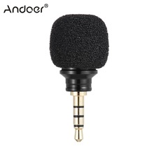 Andoer Cellphone Smartphone Portable Mini Omni-Directional Mic Microphone for Recorder for iPad Apple iPhone5 6s 6 Plus