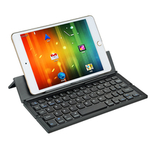 Mobile phone Keyboard Bluetooth Wireless Keyboard Mini Slim Thin Foldable Folding Portable with Touchpad for iPad Pro Tablet PC(China)