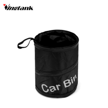Car Garbage Can Pop-up Car Trash Can Auto Traveling Collapsible Litter Bag Bin