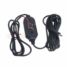 Kris 12V To 5V Hard Wire Cable 3.5 M Mini/Micro USB Adapter For Car Dash Camera Phone