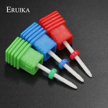 ERUIKA Ceramic Cuspidal Nail Drill Bits 3 Size Milling Cutter 3/32'' Apparatus for Manicure Nail Art Nail File Drill Accessories(China)