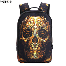 High Quality New Russian Style School bag For Boys male double shoulder bag Waterproof Personality Backpack Person cranial head