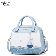 Brand Design Handbag Women tote bag female boston small shoulder messenger bags Sail Embroidery Purse Leisure Sea Messenger Bags