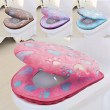 Bathroom Accessories Winter Toilet Seat Cover Warm Cover Toilet Seat Cotton Linter Travel Set Bath Mats Toilet