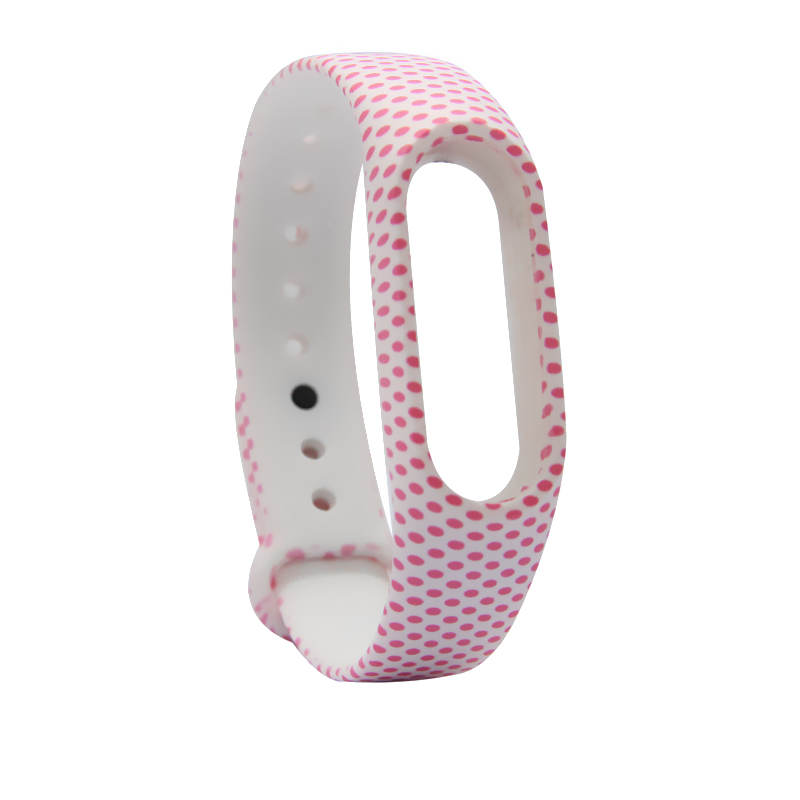 image for 1pcs Blue Flower Wristband  For Xiaomi Mi Band 2 Strap Smart Wristband