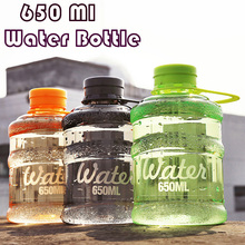 Portable  Mini Water Bottle 650ml Plastic Gym Bottle for Traveling Biking Outdoor Drinkware Colorful Drink Bottle DROPSHIPPING