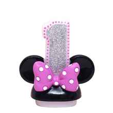 Girl Mouse Ears Candles Smokeless Child Birthday Number Candle Decorative Birthday Candles for Cake Decoration(China)