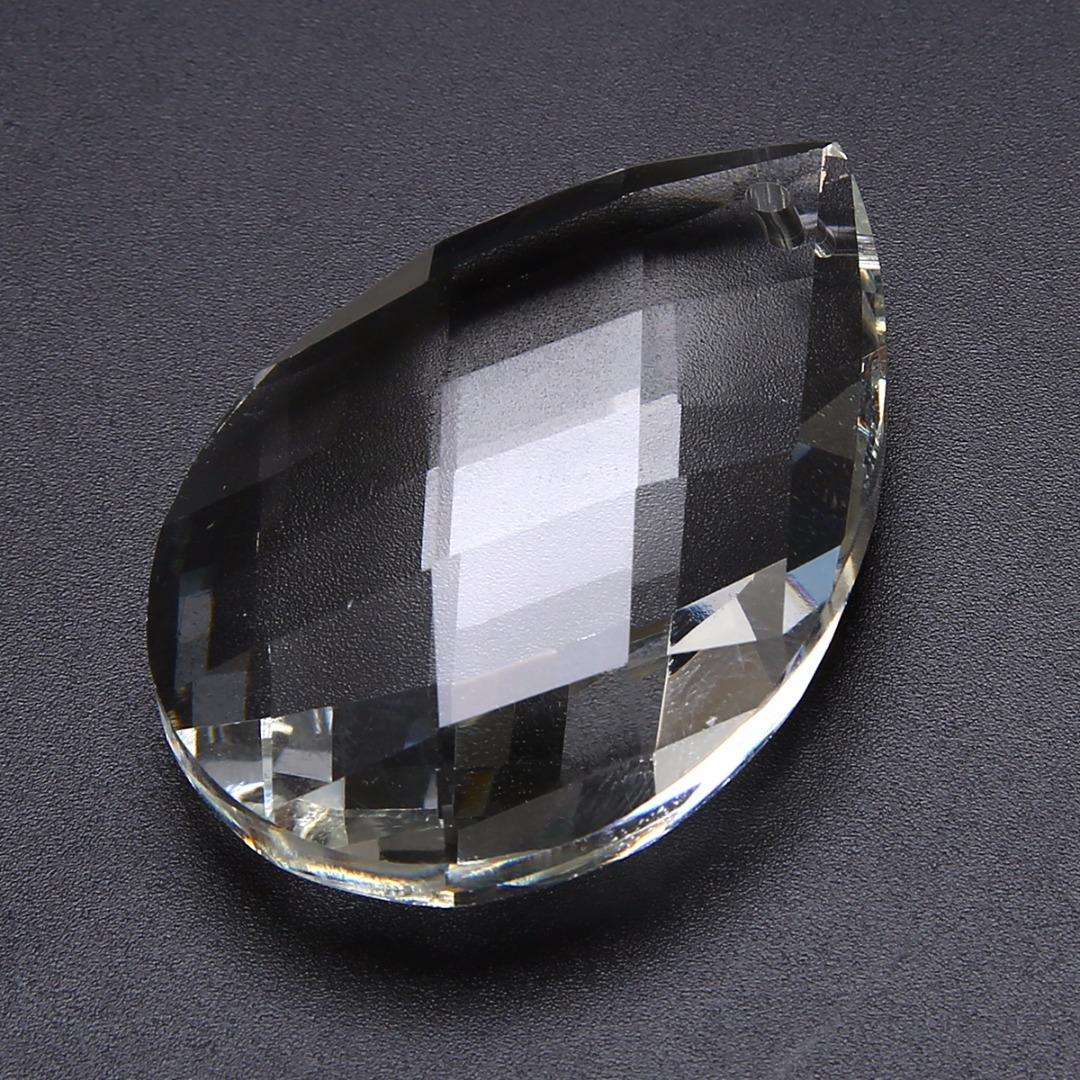 1pc New Clear Chandelier Glass Crystals Lamp Prisms Parts Hanging Drops Pendants K9 Crystal 63mm