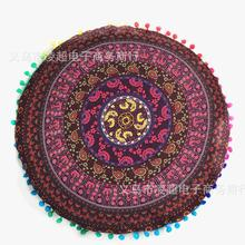 Wholesale Customized Color Gradient Flower Mandala Floor Pillow Cover Home Rooms Decor Round Mandala Cushion Covers(China)