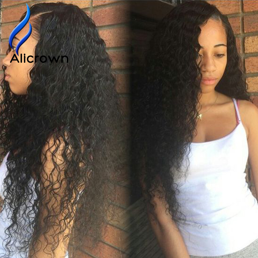 Glueless Curly Lace Front Wig Brazilian Full Lace Wigs Brazilian Curly U Part Wig Full Lace Wigs Human Hair With Baby Hair<br><br>Aliexpress