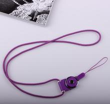 New Fashion Purple Color Multifunctional Detachable Neck Lanyard Strap For Cell Phone Camera USB ID Badge Holder 1pcs