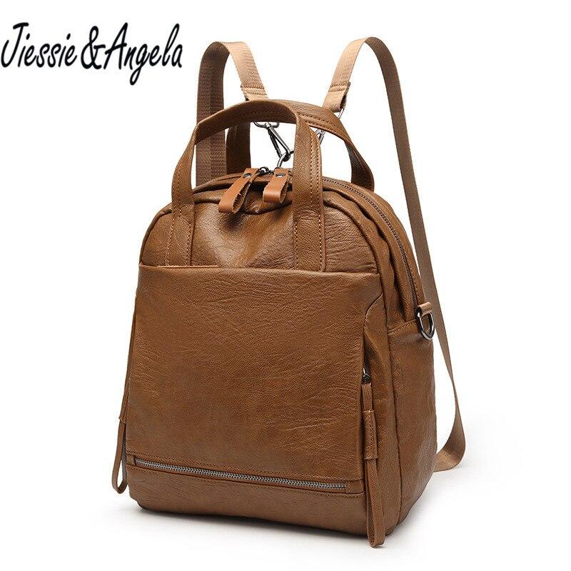 Jiessie&amp;Angela casual school bag women backpack vintage backpacks for teenage girls campus bags travel backpack female mochila <br>