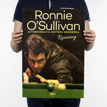 Buy Rocket O'Sullivan style/cue sport/Snooker/sport poster/kraft paper/bar poster/Retro Poster/decorative painting 51x35.5cm for $1.49 in AliExpress store