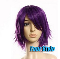 Fashion Synthetic Short Boy Pixie Cut Wigs Hairstyles Koreans Asian Male Purple Cosplay  Wig Natural Hair Perruque Peluca Hombre