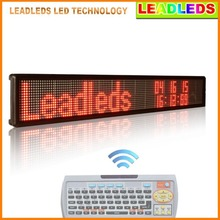 RED Led display indoor Programmable Two lines of text Scrolling Message led display Board for Business and Store(China)