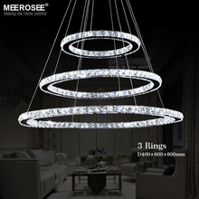 Hot sale Diamond Ring LED Crystal Pendant Light Modern LED Lighting Circles Hanging Lamp 100% Guarantee Lustres Luminaire