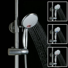 Wall Mounted Chrome Water Power Chrome Handheld Shower Head Round Finish Multi-color LED Hand Shower D13