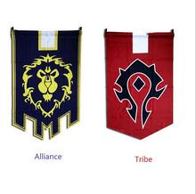 New Huge 90*60cm Flags game World of war craft Horde and alliance Flags WOW Hearthstone cosplay Flags Home Decor