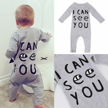 Fashion 2017 Boy Girl Rompers Spring Baby Cotton One Pcs Rompers Baby Long SleeveJumpsuit Bebe Coverall Baby Pajamas 3M-2T