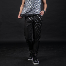 27-44 !!! 2017, male djds rivet slim fashion costume men's clothing buku Size can be customized The singer's clothing(China)