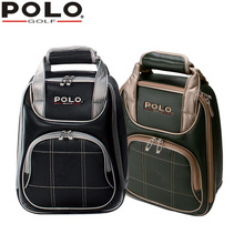 Brand POLO Waterproof PU Golf Shoe Bag for Men and Women Portable Shoes Package Travel Bag Golf Accessories Bolsas Shoe Bag 2017(China)