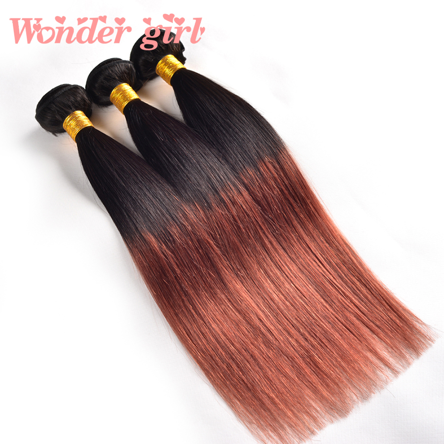 Malaysian Virgin Hair Straight 3Pcs Ombre Hair Extensions Two Tone 1B/33 1B/99J Ombre Human Hair Weave Malaysian Straight Hair<br><br>Aliexpress