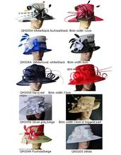 Wholesale 2017 NEW Sinamay Hat Dress Hat for church Kentucky Derby in mix style mix colors.Free Shipping By EMS,10pcs/lot