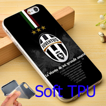 Italian Juventus Footbal Club TPU Phone Cover Case for iPhone 5S 5 SE 5C 4 4S 6 6S 7 Plus (Soft TPU / Hard Plastic for Choice)