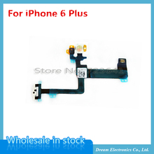 MXHOBIC 5pcs/lot Power On Off Mic LED Light Flash Flex Cable Replacement Part For iPhone 6 Plus 5.5''(China)