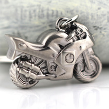 Classic Motorcycle Keychain 3D Simulation Model Motorbike Autocycle Key Chain Ring Keyring Keyfob(China)