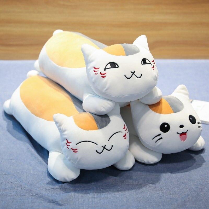 Large Sleeping Natsume Yuujinchou Nyanko Sensei Cat Plush Toy Doll Pillow Gift