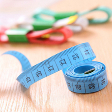Hot Body Measuring Ruler Sewing Tailor Tape Measure Soft 1.5M Sewing Ruler Meter Sewing Measuring Tape Random Color(China)