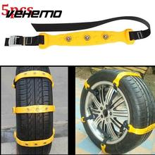 Vehemo 5pcs/set Car Snow Chains Winter Road Tire Wheel Chians Thickened TPU Anti-skid Chains 185-295mm Types Car-styling(China)