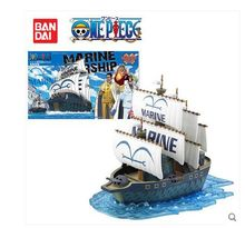 Bandai one piece model navy marine Grand ship collection boat Assembling toy kit boy kids birthday gifts Brinquedo