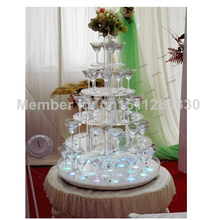 The new round acrylic manufacturers selling 6 tier cake package mail counters quality goods Summer wedding acrylic cupcake stand(China)