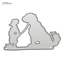 Modern Metal Boy And The Dog Cutting Dies Stencil For DIY Scrapbook Album Paper Card Craft Embossing Decorative Paper Card Craft
