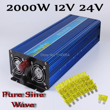 2000W Off Grid Inverter DC12V 24V to AC110V/220V, 100% Pure Sine Wave Output Solar Wind Power  Inverter 2000W 12V 24V
