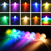 WITUSE 48pcs/lot Long Bright 10 Colors Screw thread Lantern Batteries Operated Decor Balloon lights Holiday RGB LED Lighting