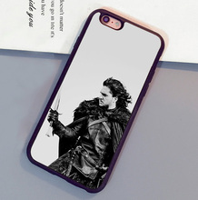 Game of Throne Jon Snow Printed Mobile Phone Cases Bags For iPhone 6 6S Plus 7 7 Plus 5 5S 5C SE 4S Soft Rubber Skin Back Cover
