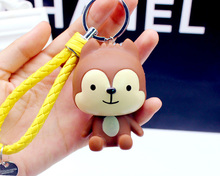 Descendants Of The Sun Cute Little Wolf Doll Lovely Keychain For Car Key Bag Backpack Charms Ornament Accessory Novelty Product(China)