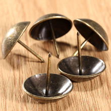 5Pcs 3CM Antique Brass Upholstery Nail Decorative Upholstery Tacks Stud Jewelry Wooden Box Furniture Decorative Pushpin Doornail(China)