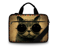 Cool Cat 17 Laptop Shoulder Bag Canvas Case Briefcase For 17 Apple Macbook Pro<br><br>Aliexpress