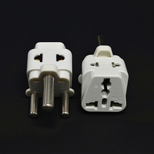 White Portable 10pcs White UK AU US EU to Big South Africa AC Power Plug splitter Travel Converter Adapter Electrical Plugs(China)