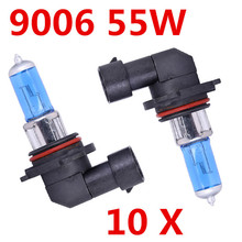 Free Shipping 10X Headlight 9006 Super White 12V 55W 6000K HB4 Head Light Halogen bulb lamp Car Styling Parking for ford