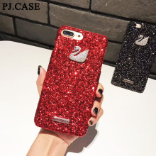 Buy PJ.CASE Bling Shiny Glitter Hard PC Cover iPhone 6 6S Plus 7 8 Plus Diamond Swan Case iPhone X Luxury Capa Coque Hoesjes for $4.18 in AliExpress store