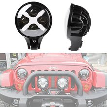 6'' Round led headlight 60W Offroad Daytime Running Bulb With X CCFL Light for Jeep Wrangler SUV Truck   4X4 Vehicles