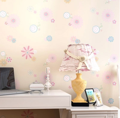beibehang papel parede Flowers Print Kids Room Decor Wallpaper Lovely Floral Wallpapers Boys Girls Bedroom Decorative Mural Wall<br>